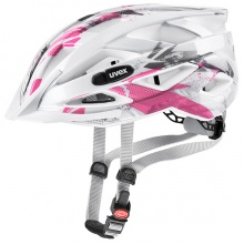 uvex Fahrradhelm Kinder air wing weiss/pink
