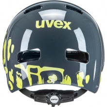 uvex Fahrradhelm Kinder kid 3 grau/gelb