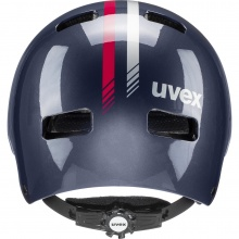 uvex Fahrradhelm Kinder kid 3 Race dunkelblau/pink
