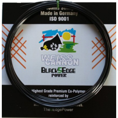 WeissCannon Black5Edge Power 1.24 schwarz Tennissaite