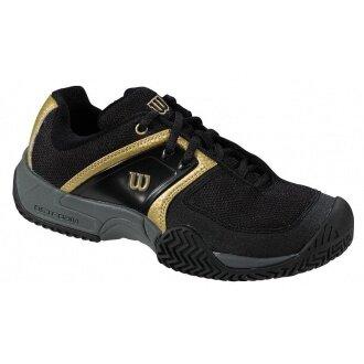 Wilson Trance Allcourt schwarz/gold Tennisschuhe Kinder (Größe 39)