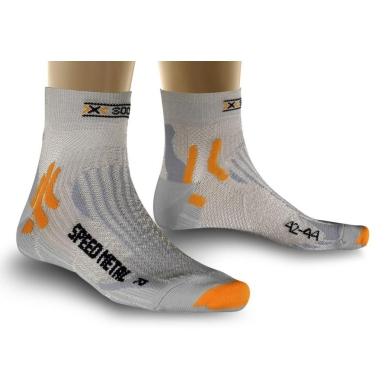 X-Socks Laufsocke Speed Metal silber Herren