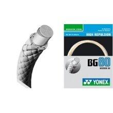 Yonex BG 80 0.68mm weiss Badmintonsaite