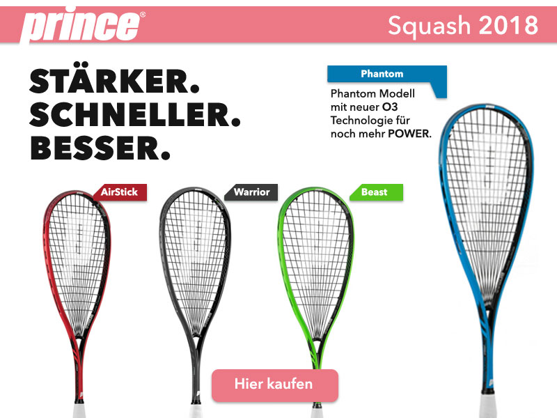 Prince Squashschläger 2018