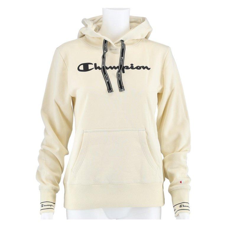 Champion Hoodie Big Logo Print 2019 beige Damen