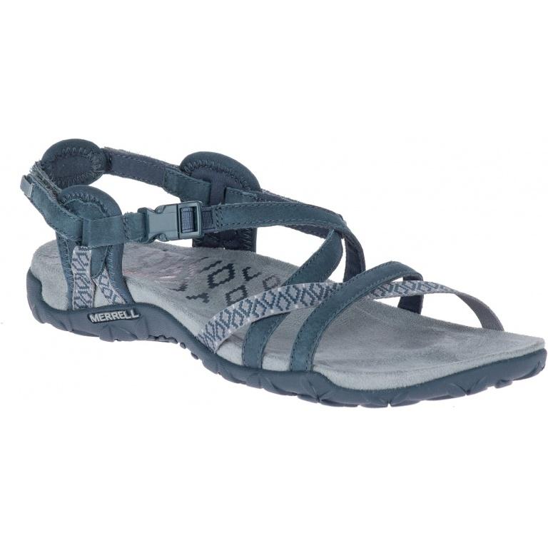 Merrell Terran Lattice II 2018 blaugrau Sandale Damen WOGK0FzO